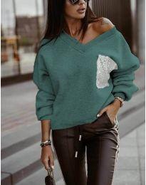 Дамска блуза в зелено - код 904