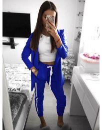 Дамски комплект в син цвят - код 800