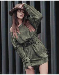 Дамска рокля в светло зелено - код 8989