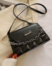 Ефектна чанта в черно - код B322