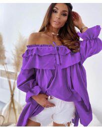 Ефектна рокля в лилаво - код 9865