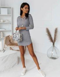 Дамска рокля  в сиво - код 8856