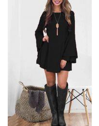 Елегантна рокля в черно - код 8102