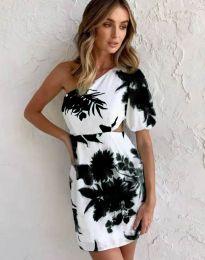 Атрактивна рокля с едно рамо - код 4650 - 1