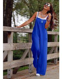 Свободен дамски гащеризон в тъмно синьо - код 5359