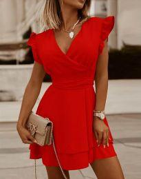Ефирна дамска рокля в червено - код 5654