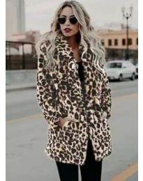 Дамско палто с ефектен десен - код 1183