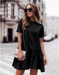 Атрактивна дамска рокля в черно - код 11890