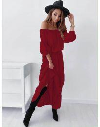Дамска рокля в бордо - код 1317