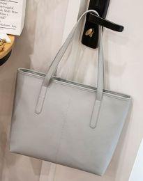 Изчистена дамска чанта в сиво - код B272