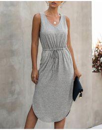 Свободна дамска рокля в сиво - код 681