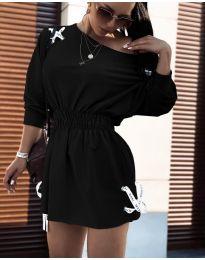 Изчистена рокля в черно - код 7470