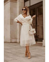 Дамска рокля в бяло - код 9994