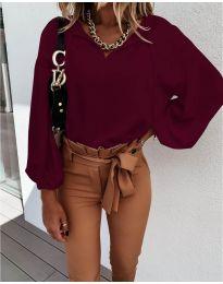 Дамска риза в бордо - код 924