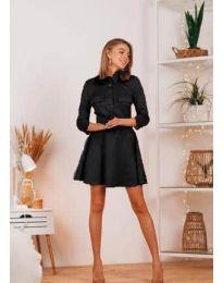 Свободна дамска рокля в черно - код 6619