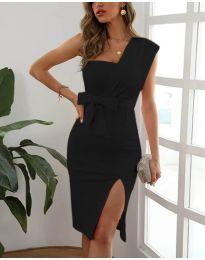 Елегантна рокля в черно - код 6153