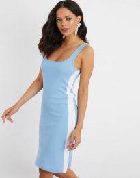 Спортна рокля в светлосиньо - код 1253