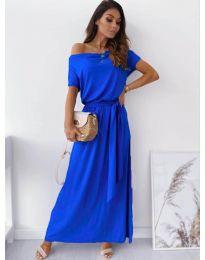 Изчистена рокля в тъмно синьо - код 7700