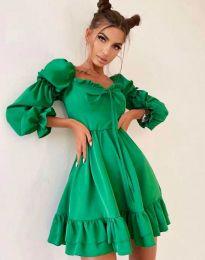 Стилна дамска рокля в зелено - код 8469