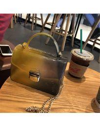 Дамска чанта в цвят горчица - код B107