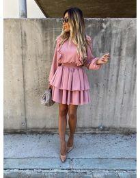 Елегантна рокля в розово - код 7723