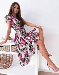 Дамска рокля с атрактивен десен - код 6747 - 4