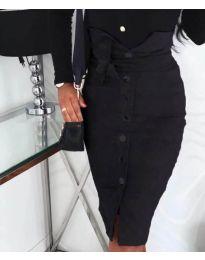 Вталена пола с копчета в черно - код 357