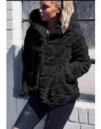 Дамско късо палто в черно - код 9202