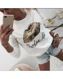 Дамска блуза в бяло - код 975