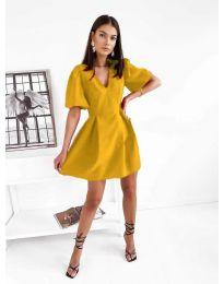 Дамска рокля в цвят  горчица - код 0807