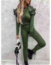 Дамски комплект в зелено - 5583