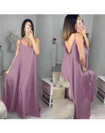 Свободна дълга рокля в лилаво - код 6600