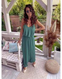 Дълга дамска рокля в зелено - код 635