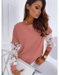 Елегантна дамска блуза в цвят праскова - код 4426
