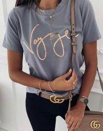 Дамска тениска в сиво - код 3350