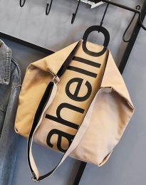 Ефектна дамска чанта в бежово - код B293