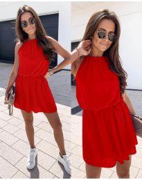 Ефирна дамска рокля в червено - код 513