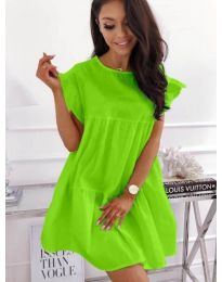 Разкроена рокля в зелен цвят - код 3145