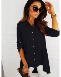 Асиметрична риза в черно - код 5689