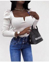 Елегантна блуза в бяло - код 2620