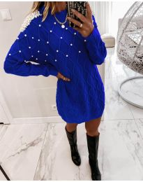Свободна рокля в синьо - код 3480