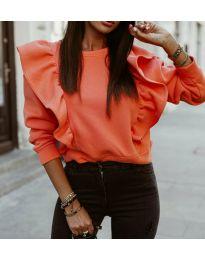 Дамска блуза в цвят праскова - код 3890