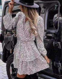 Дамска рокля с атрактивен десен - код 2827 - 1