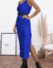 Дамска рокля в тъмносиньо - код 6231
