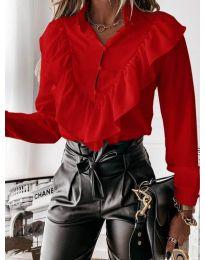Дамска риза в червено - код 9032