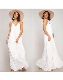 Свободна дълга рокля в бяло - код 0508