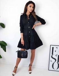 Атрактивна дамска рокля в черно - код 3852