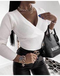 Дамска блуза в бяло - код 6392