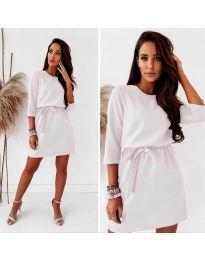 Елегантна дамска рокля в бяло - код 778