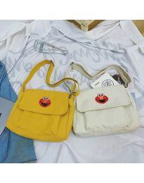 Дамска чанта с ефектен принт в жълто - код B523